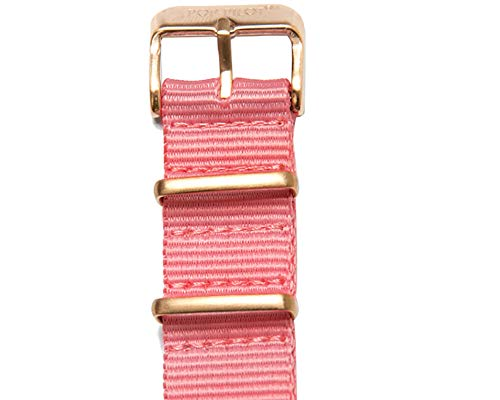 Pop Pilot Damen Stoff Uhrenarmband Fuchsia L 20mm