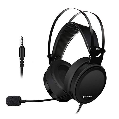 ELEGIANT Auriculares Gaming, Cascos Gamer PS4 PC con Micrófono Sonido Nítido Estéreo Diseño Super-Ligero Negro Elegante (N7)