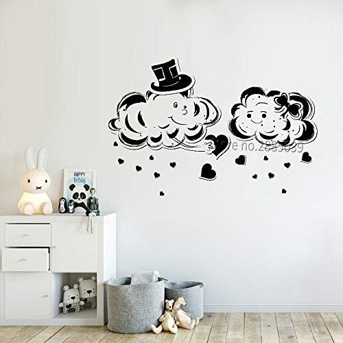 Kreatives Design niedlich Wolke Vinyl wandtattoo Liebe Wolke Baby Kindergarten wanddekoration wandbild entfernbarer Aufkleber 115x75 cm