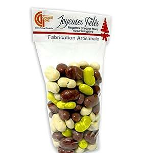 Sachet 200g mogette (coeur nougatine enrobé de chocolat) - chocolat de noel - ballotin de chocolat