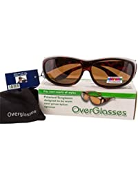 OPTICAID TORTOISESHELL POLARISED OVER GLASSES / SUNGLASSES DESIGNED TO BE WORN OVER PRESCRIPTION GLASSES