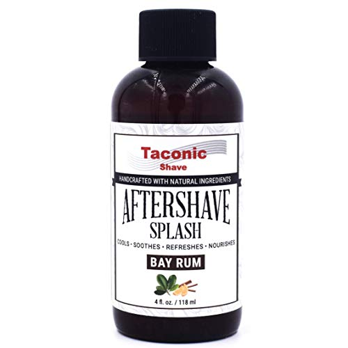 Taconic Shave Bay Rum After Shave Splash - Kühl Formula - Artisan Hergestellt in den USA -