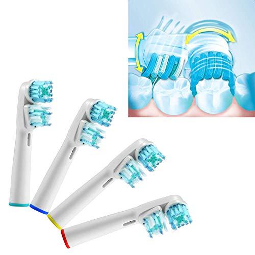 KongKay 4 PCS SB-417A/EB417 Generico Testine di Spazzolino da Denti di Sostituzione Compatibili per lo Spazzolino Elettrico Braun Oral-B Dual Clean (1 pacco x 4 pz)
