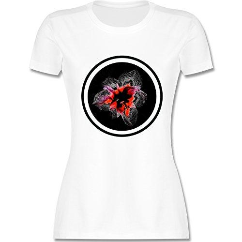 Blumen & Pflanzen - Orchidee - tailliertes Premium T-Shirt mit Rundhalsausschnitt für Damen Weiß