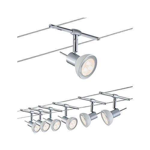 Paulmann 941.23 Seilsystem SheelaLED Set Warmweiß 6x4W LED Chrom 94123 Seilleuchte Hängeleuchte