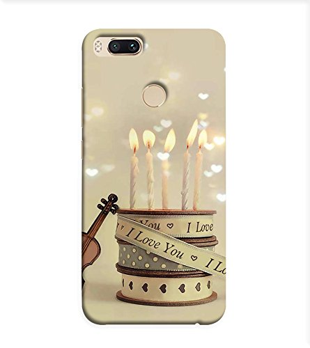 OBOkart Happy birthday cake 3D Hard Polycarbonate (Plastic) Designer Back Case Cover for Xiaomi Mi A1