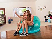 Intex Inflatable Transparent Chair, Green, 68594