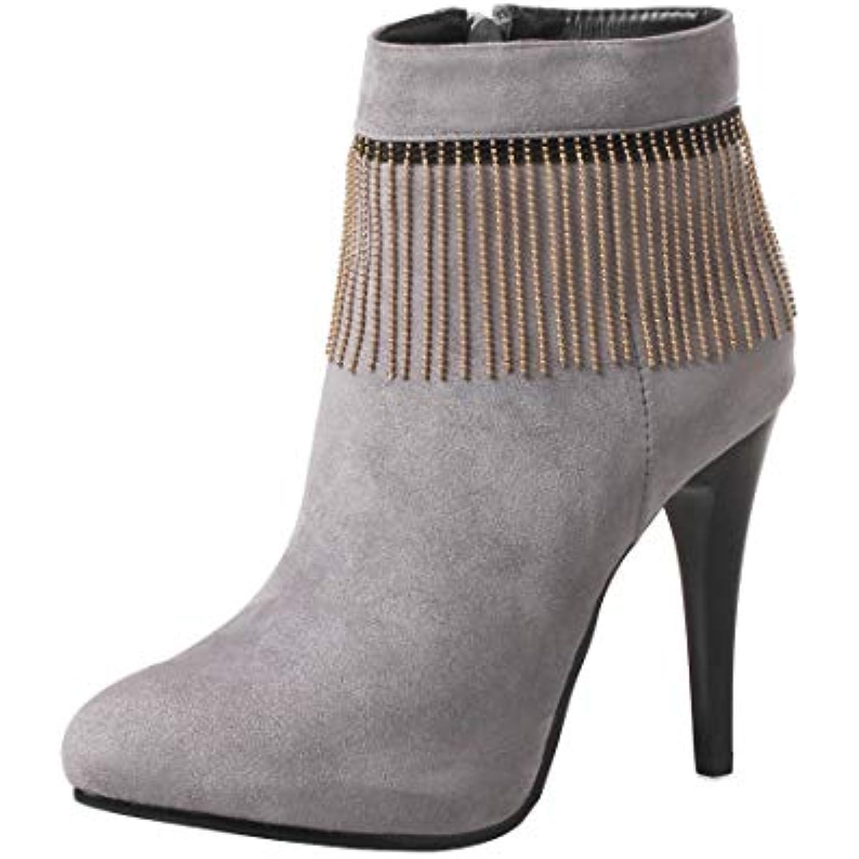 1594c3a4be1c4 YE Botte Daim Talon Haut Aiguille Sexy Plateforme Bottines Pointu Bout  Pointu Bottines Ankle Boots for. «