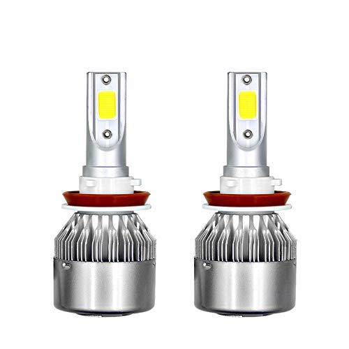 Fucaiqian Raincoat LED Headlight 3800Lm LED Faro Lampadine Hi/Lo Beam H11 / H13 36W 6000K con Chip Super Hopeful COB 2pcs (Color : H11/8/9)