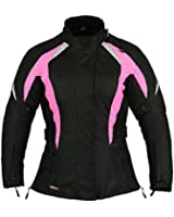 Shock Pink Womens Motorbike Protection Jacket Waterproof