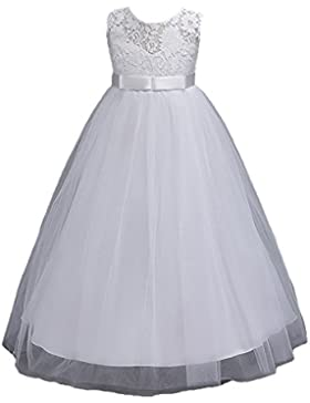 Juleya Elegant Long Teenage Niña Vestidos Tutu Birthday Vestidos
