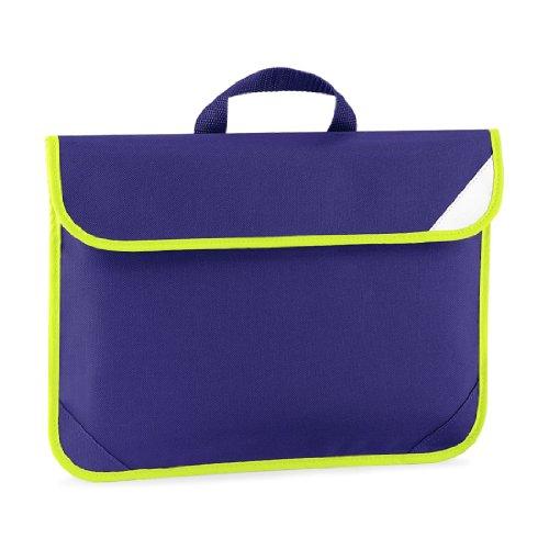 Shirtstown Enhanced-Viz Book Bag, Schultasche, Dokumentasche lila
