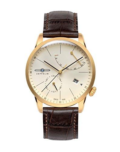 Zeppelin Montres Homme - Bracelet en cuir & résine 7368-5
