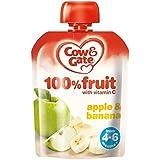Vache & Portail Pomme Et La Banane À 100% De Fruits Avec De La Vitamine C À Partir De 4-6 Mois 80G - Lot De 2