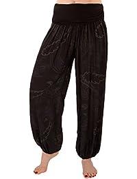 FASHION YOU WANT Damen Haremshose Pumphose Sommerhose großes Paisleymuster Größe 34/36 bis Größe 48/50 verfügbar Leichte Haremshose