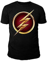 DC Comics - The Flash Serien Herren T-Shirt - Logo (Schwarz) (S-XL)