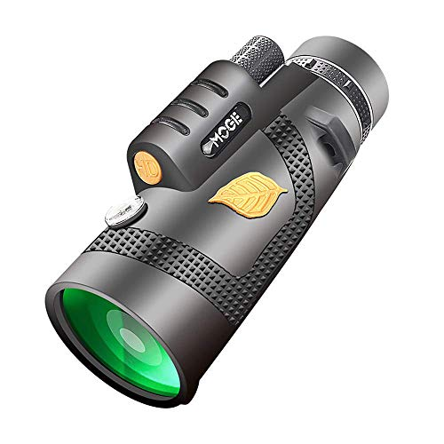 RLF LF Schwarz Monokulare Teleskope, Hochqualitatives Handheld Monokular Ferngläser 12X50-Monokular Für Die Professionelle Reisejagd