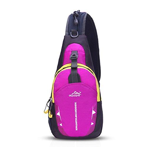 b1f8feced8d8a FANDARE Sling Bag Rucksack Umhängetasche Brusttasche Messenger Bag Hiking  Bag Daypack Crossbody Bag Schultertasche Reiserucksack Polyester