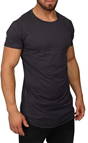 QULAXITY XVI Herren Shirt Oversize Rundhals (XXL, Dark Grey)