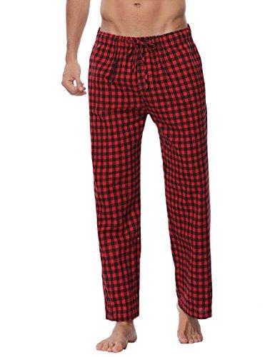 Aibrou pigiama pantaloni lunghi da uomo in cotone, uomo pigiama pantaloni da notte, uomo pantaloni sportivi casual per corsa, sport