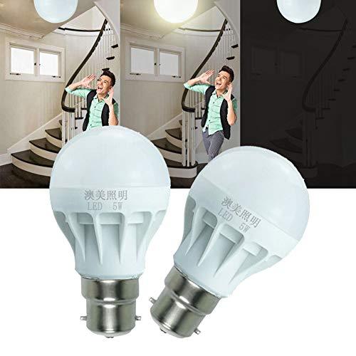 P12cheng Energiesparlampe, 3 W/7 W/12 W, B22 Radar Bewegungsmelder, LED-Leuchtmittel, Treppen, Korridor, Garagenlampe, 12 W, Kunstharz, 3W -