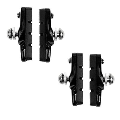 MagiDeal 4 Stück Fahrradbremsbeläge Fahrrad Gummi Bremsen Halter 55 mm - Schwarz
