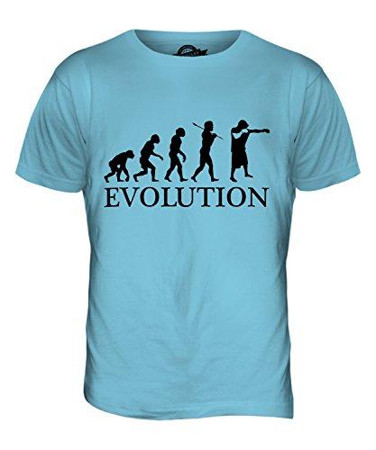 CandyMix Boxen Evolution Des Menschen Herren T Shirt Himmelblau