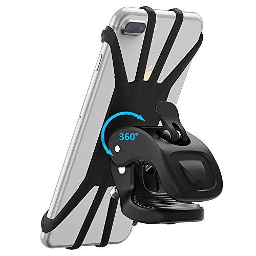 Cocoda Soporte Móvil Bicicleta, Soporte Movil Moto, Rotación 360° Ajustable Silicona Universal Montaje para Manillar de Bicicleta para teléfonos de 4.7