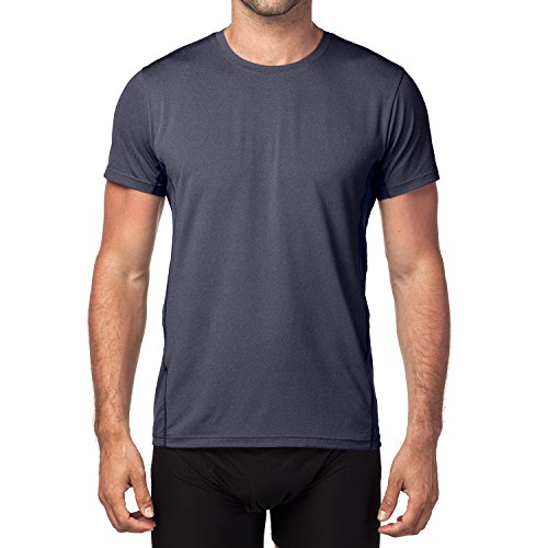 Lapasa Herren Sport T-Shirt, 1 bis 2er Pack Sport Performance T-Shirt mit Mesh Einsätze, Quick-Dry Sport Funtionkstshirt, M015 Navy Blau / 1 Pack
