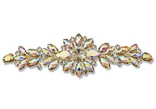 Stil 8760Kristall AB folienbeschichtete® Jeweled Aufnäher für Bridal Kleid Gürtel, Kostüm Verzierung -