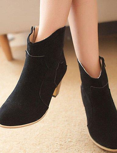 ShangYi Mode Frauen Schuhe Damenschuhe Wildleder Ferse Schuhe Stiefel  Casual Schwarz / Braun / Beige Beige