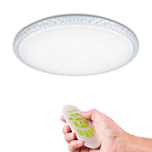 KAIRRY LED Deckenleuchte 2.4G RF Fernbedienung Dimmbare Deckenlampe Wohnzimmerlampe Küchenleuchte Innenleuchte Modern Energiespar Smart Deckenbeleuchtung 165V-265 (Größe : 500MM*85MM)