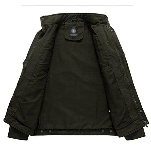... Autunno E Inverno Casual Militare Stile Cargo Giacca Taglia Grossa  Collare Del Basamento Multi Tasca Ricamo Distintivo Cappotto Giubbotti.  Visualizza le ... f8e215b2ec6