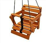 Schöne Babyschaukel 3 Möglichkeiten Kinderartikel Kinderschaukel Holzschaukel Teak Palisander (Teak Farbe)