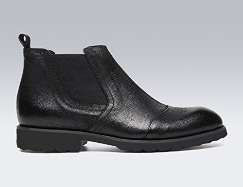 Scarpe Uomo in Pelle Scarpe da uomo in pelle Scarpe alte Scarpe invernali corte Martin Stivali stile inglese ( Colore : A , dimensioni : EU40/UK6.5 ) B