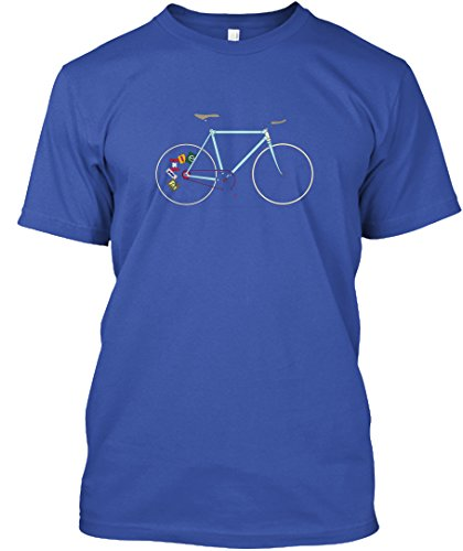 teespring Fixie Bike Tshirt - 2XL - Royal - Standard Unisex T-Shirt