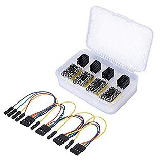 Schrittmotortreibermodul TMC2130-V1.1, SPI, mit Kühlkörper und Aet-Kabel, für 3D-Drucker (TMC2130), 4 Stück, von PoPprint