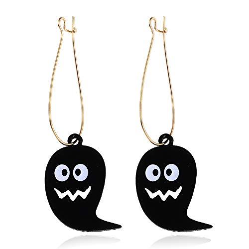 Nikgic Halloween Ohrringe Kobold Frauen Damemädchen Ohrringes Legierung 6.5x2cm 1 Pcs