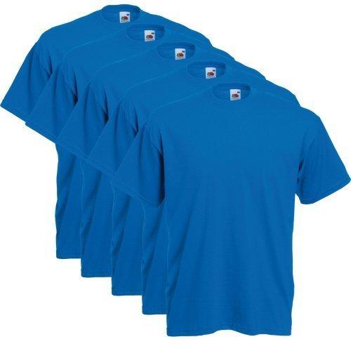 Fruit of the Loom 5er Pack T-Shirts, royal, Größe XL