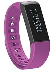 Schrittzähler Fitness Armband SHONCO I5 Plus wasserdicht Bluetooth Activity Tracker Smart Sportband Fitness Tracker Wristband mit Gesundheit schlafen Monitor für iPhone Android Handys