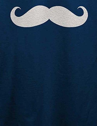 Mustache T-Shirt Navy Blau