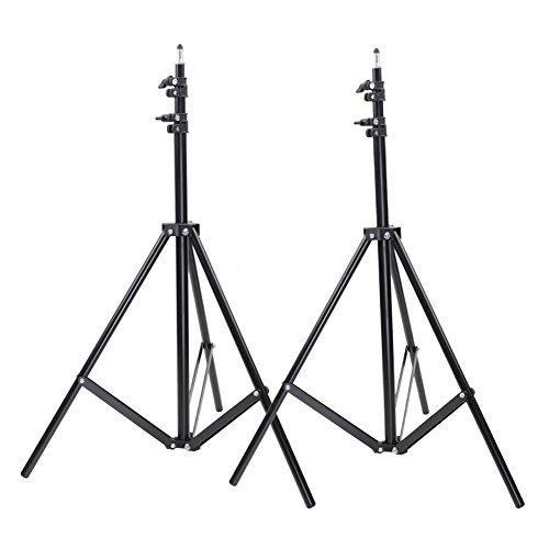 Regenschirm Fotoausrüstung (Neewer Set von zwei 9Füße Heavy Duty Foto Studio Licht steht für Video, Portrait, und Produktfotografie)