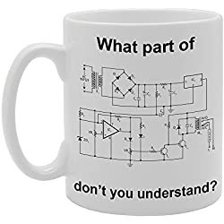 Taza cerámica con texto en inglés «What part of engineering plans don't you understand?» Taza estampada de cerámica para café.
