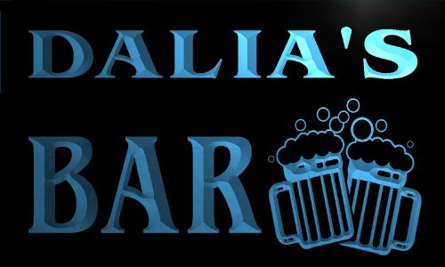 w039897-b DALIA Name Home Bar Pub Beer Mugs Cheers Neon Light Sign Barlicht Neonlicht Lichtwerbung Dalia Bar