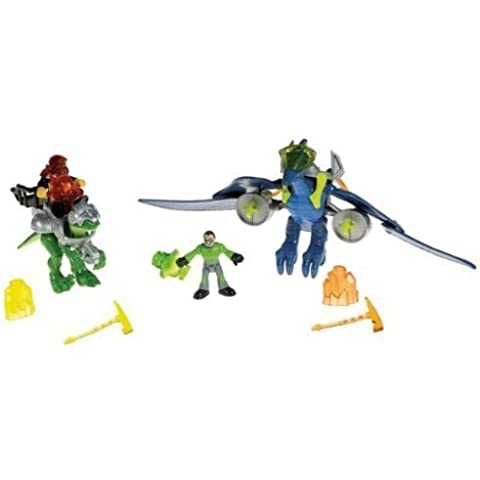 Fisher Price Imaginext Dino Gift Set Exclusive Pterodactyl, Raptor and Bonus DVD by Imaginext