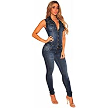 TieNew Casual Denim Mono Dress Mujeres aa3c611a6a4c