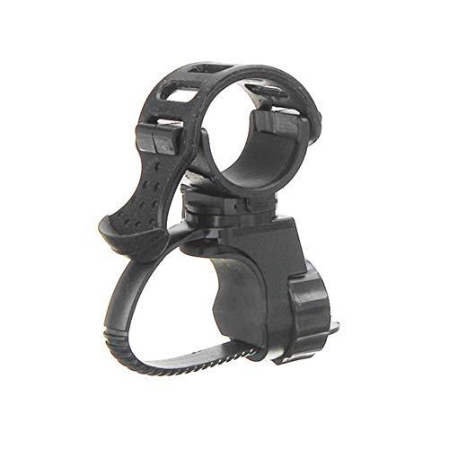 BESTT Fahrradhalterung - Schwarz Lautsprecherhalter Fahrrad Taschenlampe LED Taschenlampenhalter 360 ° Rotation Fahrradklammer, 2er Pack (Fahrrad-licht 2er-pack)