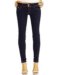 Bestyledberlin Damen Röhrenjeans, Basic Skinny Fit Jeans, Superenge Hüftjeans j45k