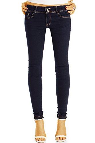 Bestyledberlin Damen Röhrenjeans, Basic Skinny Fit Jeans, Superenge Hüftjeans j45k 34/XS