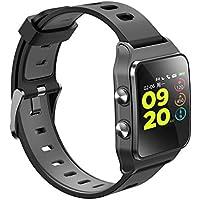 Leotec LESW15K GPS Total Heart II-Smartwatch, Color Negro